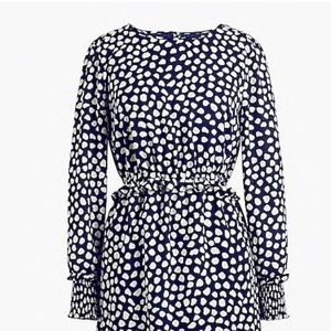 Printed long sleeve fitted dress